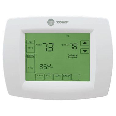 Trane XL800 thermostat.